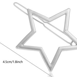 NIP Women's Geometric Silver Star ⭐️hair barrette